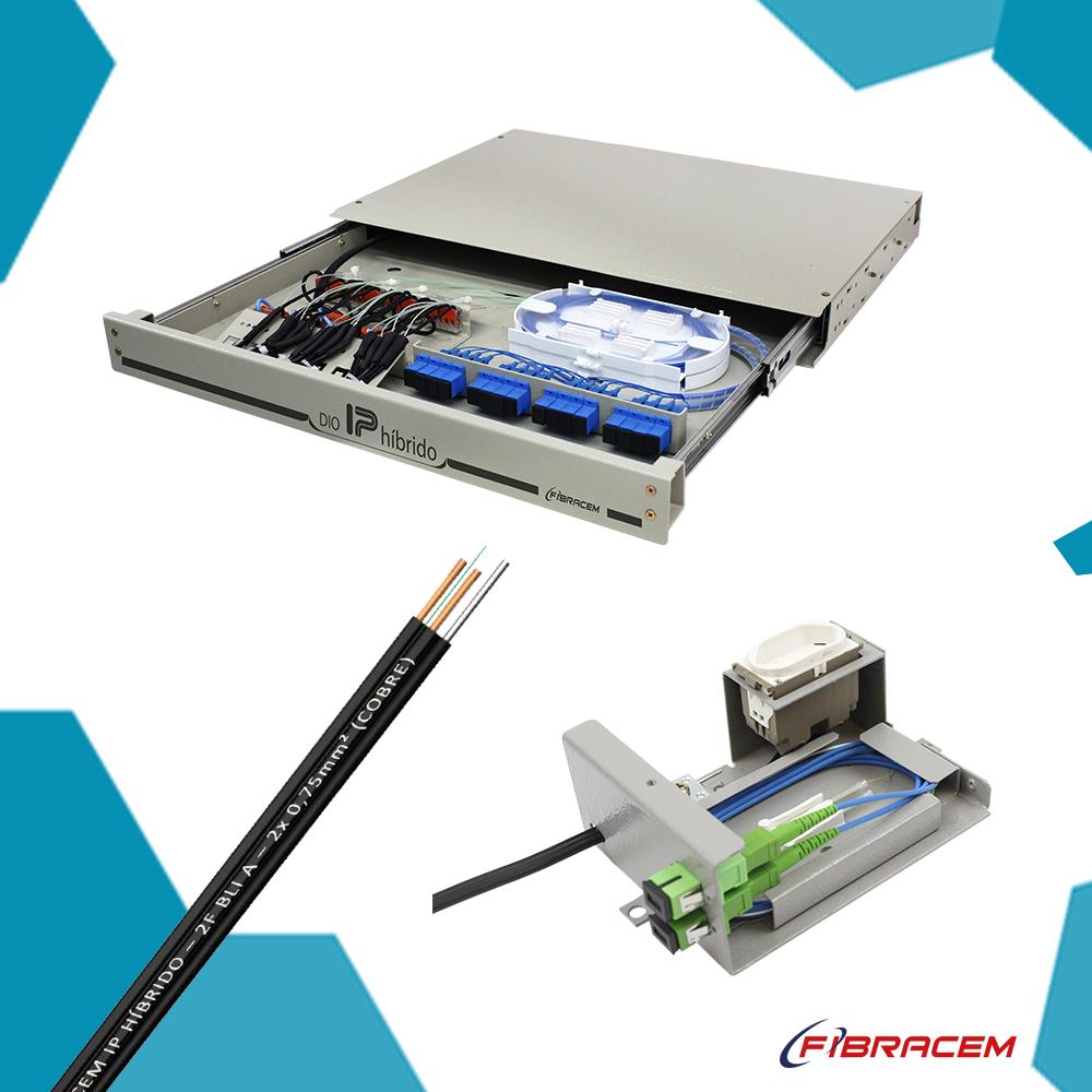 Solução IP Híbrido: Energia e Fibra Óptica em sintonia e sem interferência