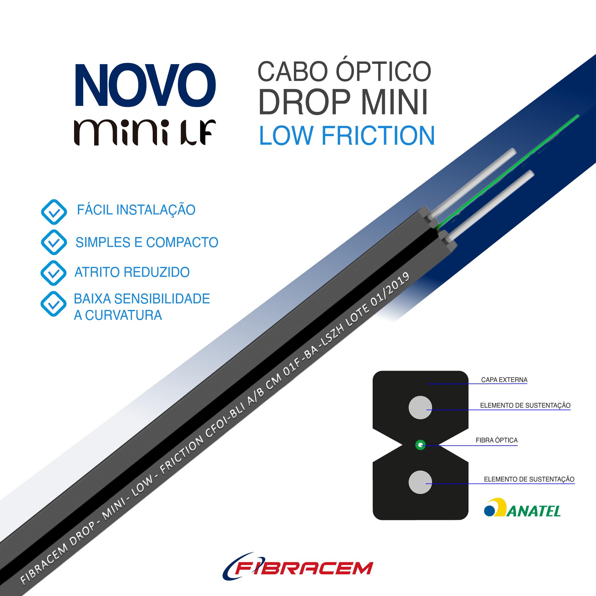 Conheça o novo Cabo Óptico Drop Mini Low Friction