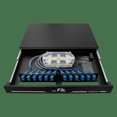 Distribuidor Interno Óptico DIO 12 Fibras FIT F2X 6 Cordões