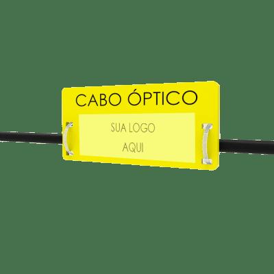 PLAQUETA DE IDENTIFICAÇÃO CABO ÓPTICO