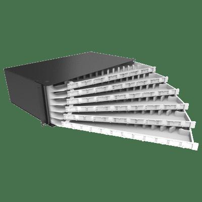 Distribuidor Interno Óptico DIO 72 Fibras Articulado