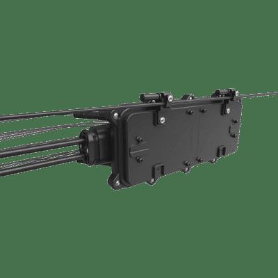 Caixa Terminal Óptica CTO Pré Conectorizada 1x8 SC APC AIRCASE com Splitter 1x2 Desbalanceado