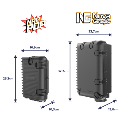 Caixa Terminal Óptica CTO 1x4 SC UPC NAP POP