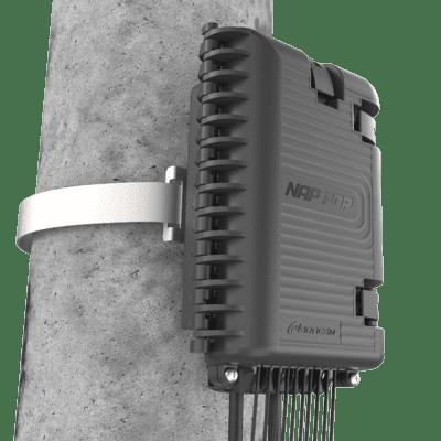 Caixa Terminal Óptica CTO 1x8 SC APC NAP POP com Splitter Desbalanceado 1x2